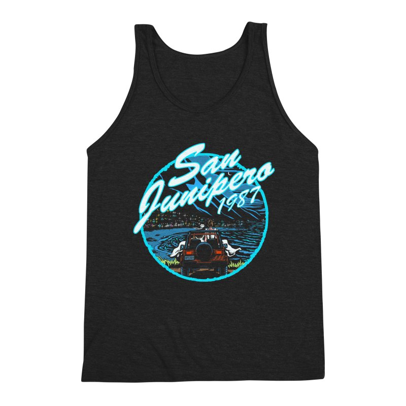 San Junipero in Blue Men's Tank by Steph Dere's Artist Shop