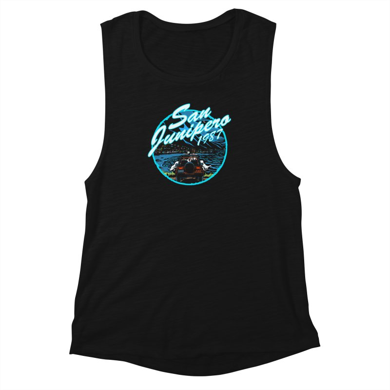 San Junipero in Blue Women's Muscle Tank by stephdere's Artist Shop