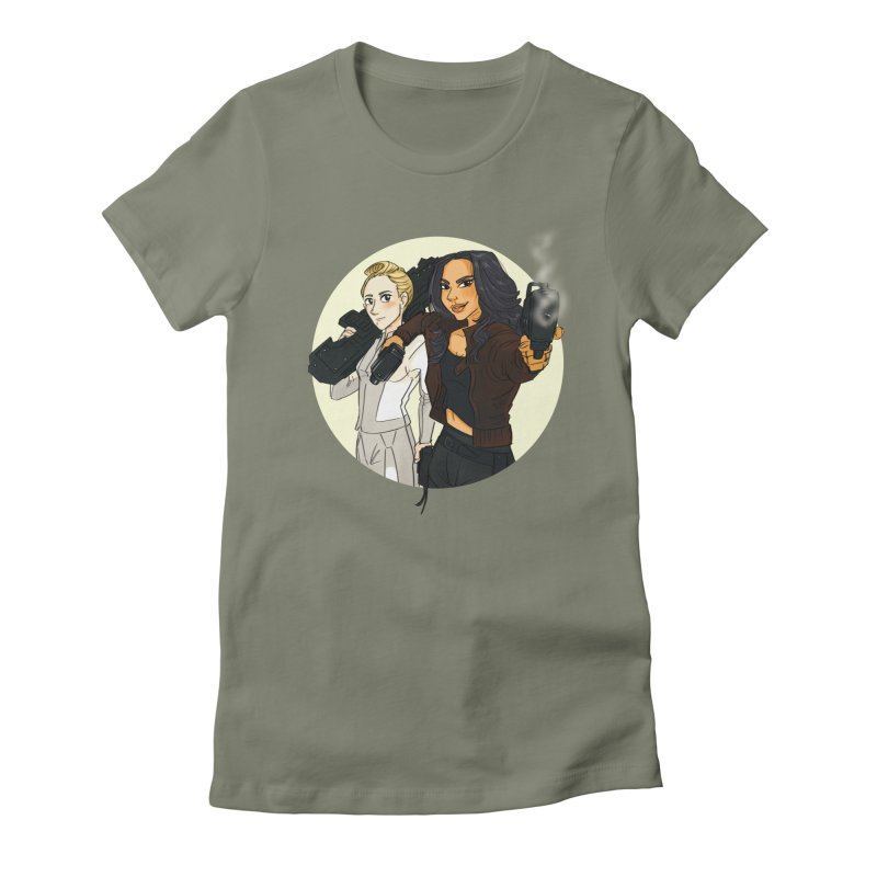 My Android T-shirt Women's Fitted T-Shirt by Steph Dere's Artist Shop