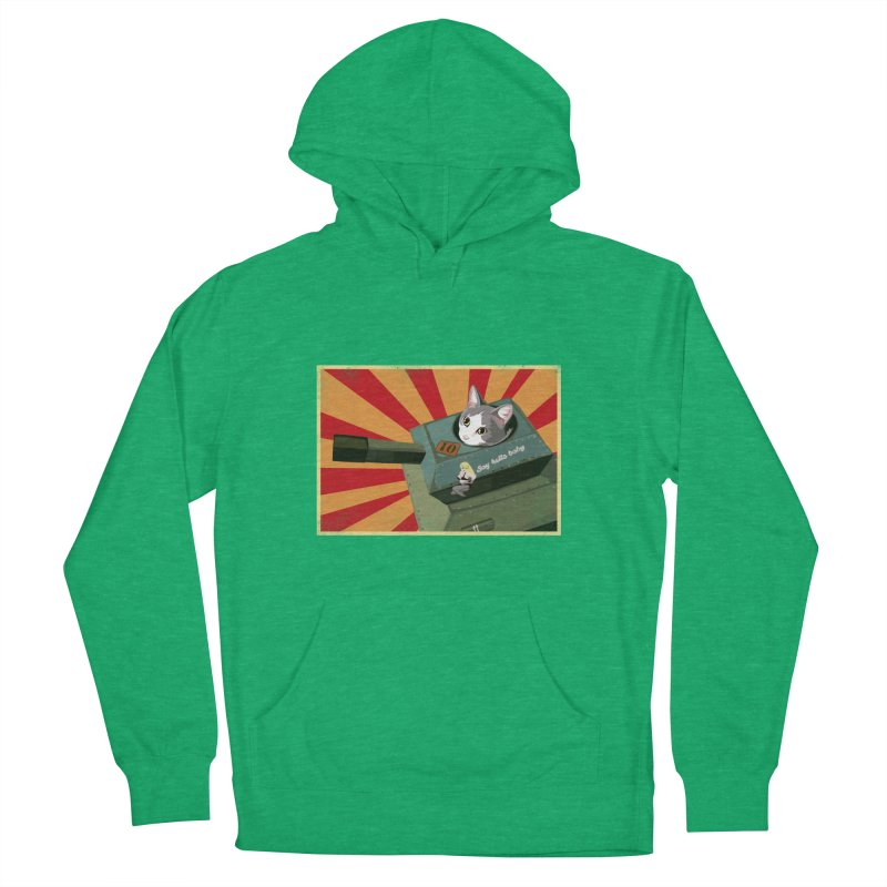 Timmy Tank Men's French Terry Pullover Hoody by Steph Dere's Artist Shop