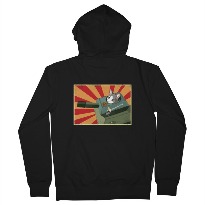 Timmy Tank Men's French Terry Zip-Up Hoody by Steph Dere's Artist Shop