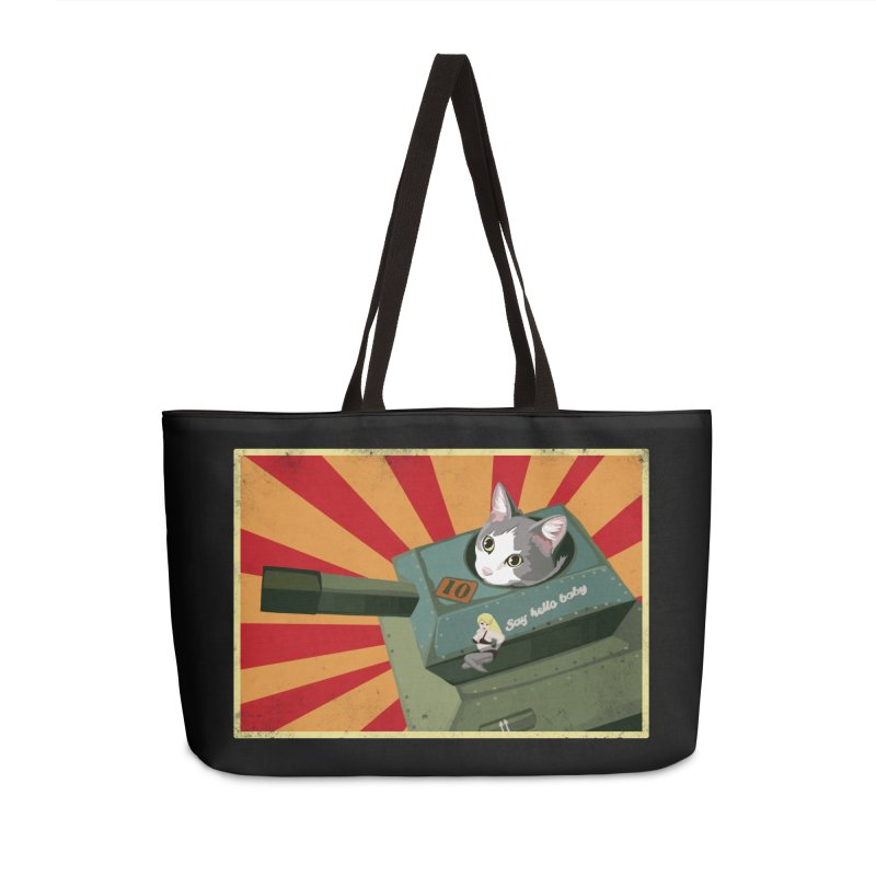 Timmy Tank Accessories Weekender Bag Bag by Steph Dere's Artist Shop
