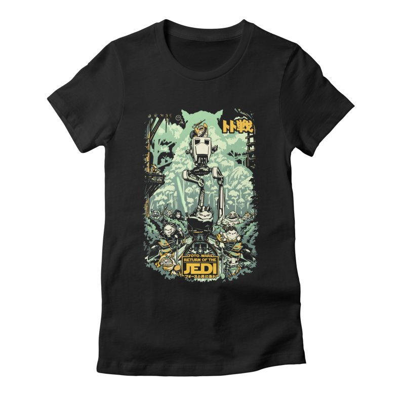 Totowars Jedi Women's Fitted T-Shirt by Steph Dere's Artist Shop