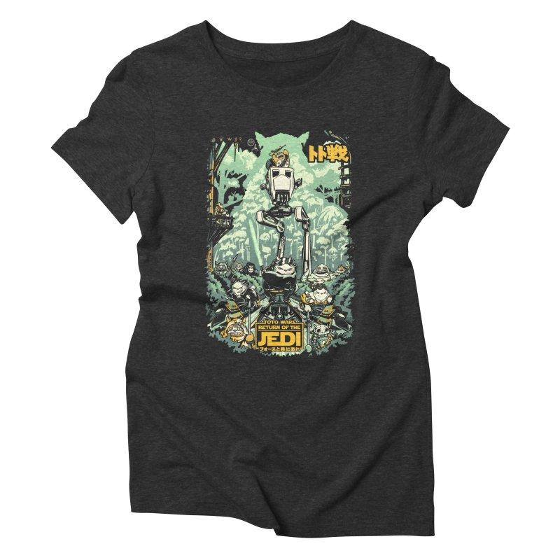 Totowars Jedi Women's Triblend T-Shirt by Steph Dere's Artist Shop