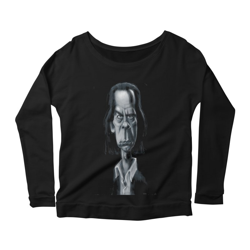 Nick Cave Women's Longsleeve Scoopneck  by stephencase's Artist Shop