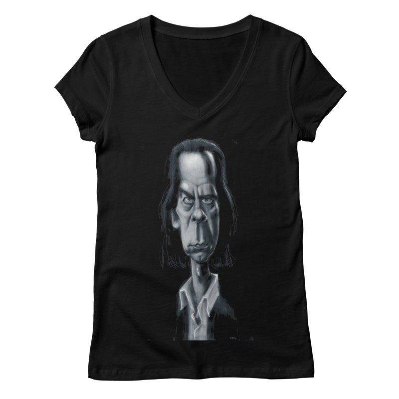 Nick Cave Women's V-Neck by stephencase's Artist Shop