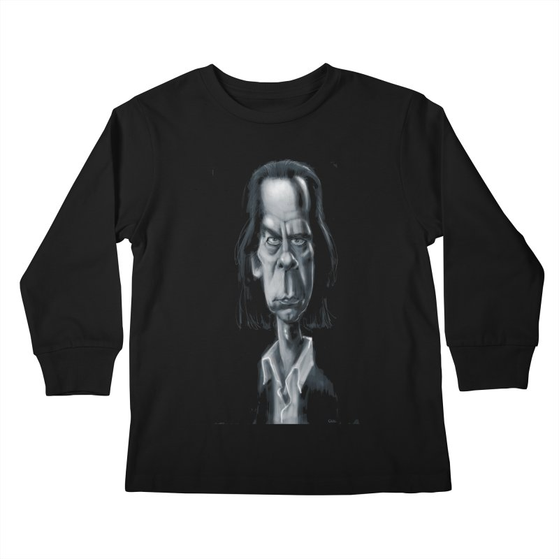 Nick Cave Kids Longsleeve T-Shirt by stephencase's Artist Shop