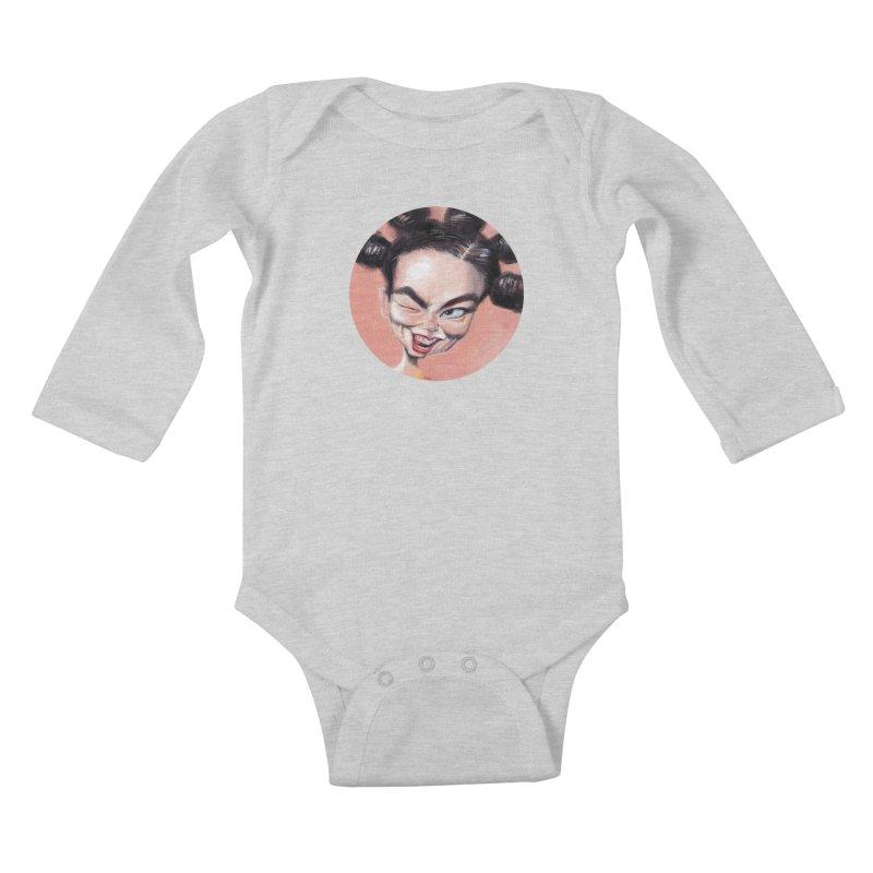 Bjork Kids Baby Longsleeve Bodysuit by stephencase's Artist Shop