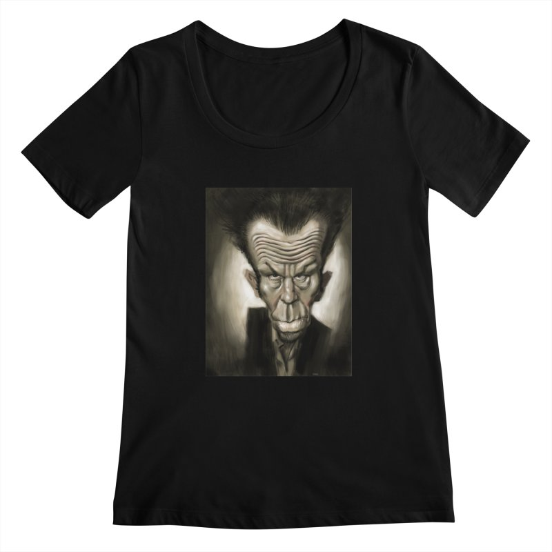 Tom Waits Women's Scoopneck by stephencase's Artist Shop