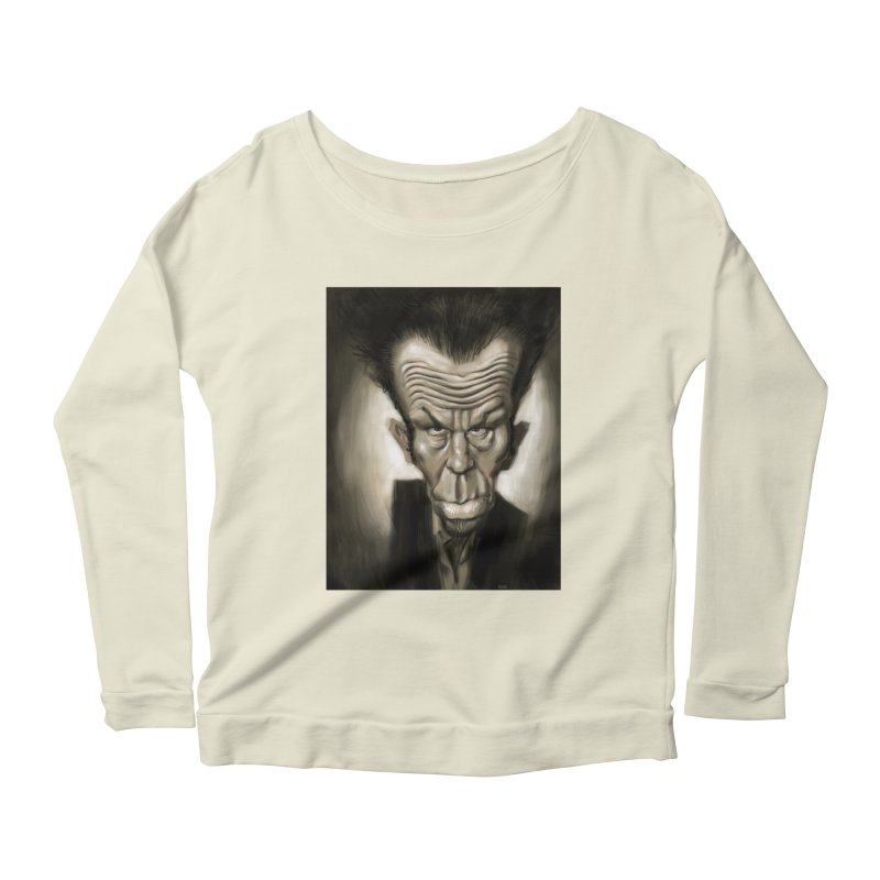 Tom Waits Women's Longsleeve Scoopneck  by stephencase's Artist Shop