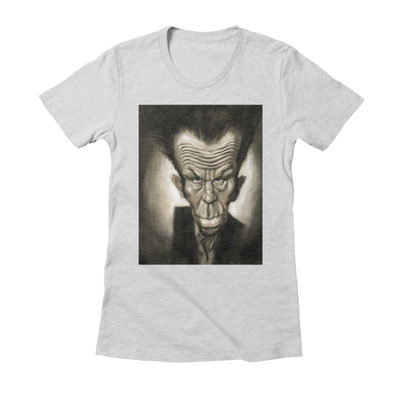 Tom Waits Women's Fitted T-Shirt by stephencase's Artist Shop