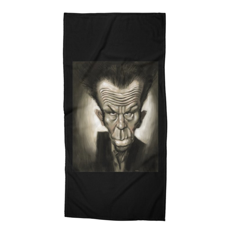 Tom Waits Accessories Beach Towel by stephencase's Artist Shop