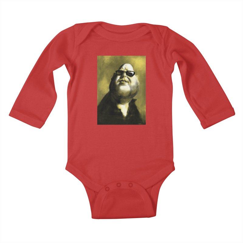 Frank Black Kids Baby Longsleeve Bodysuit by stephencase's Artist Shop
