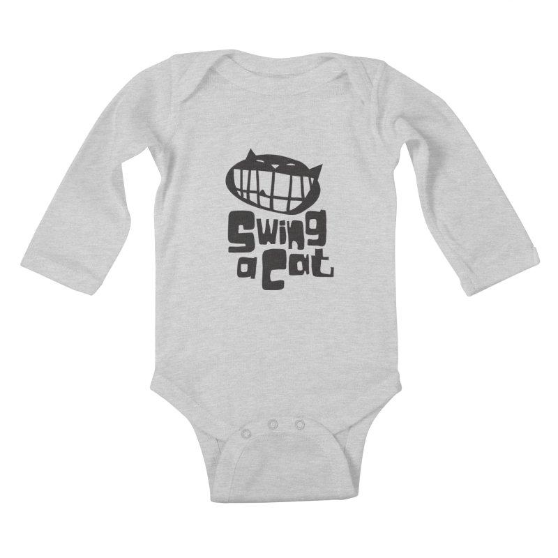 Swing a Cat Kids Baby Longsleeve Bodysuit by stephencase's Artist Shop