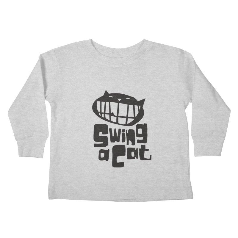 Swing a Cat Kids Toddler Longsleeve T-Shirt by stephencase's Artist Shop