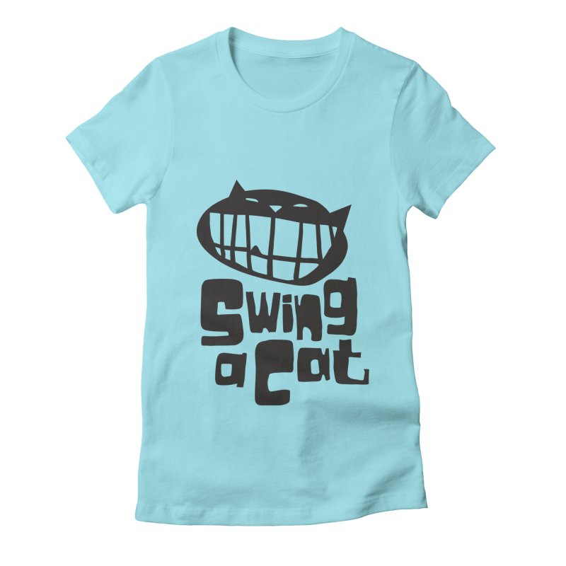Swing a Cat Women's Fitted T-Shirt by stephencase's Artist Shop