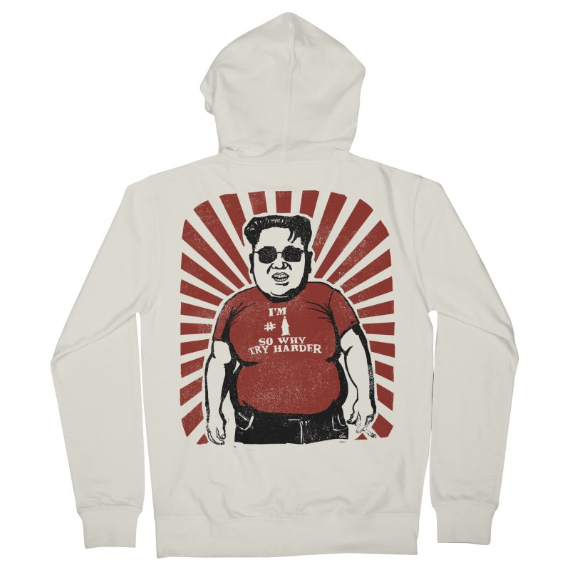 Fat Boy Kim Men's Zip-Up Hoody by stephencase's Artist Shop