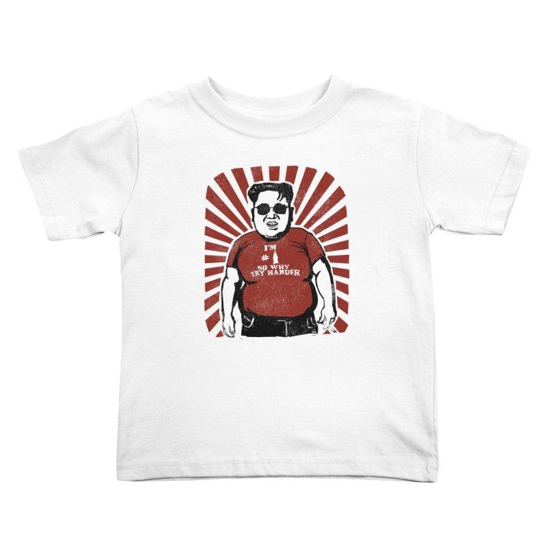 Fat Boy Kim Kids Toddler T-Shirt by stephencase's Artist Shop