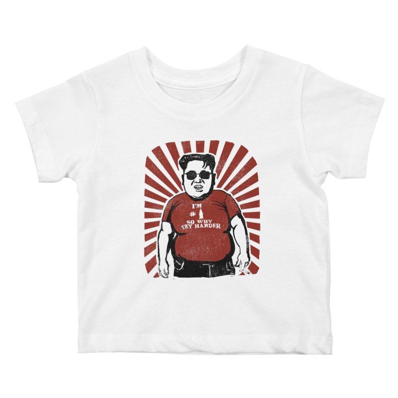 Fat Boy Kim Kids Baby T-Shirt by stephencase's Artist Shop