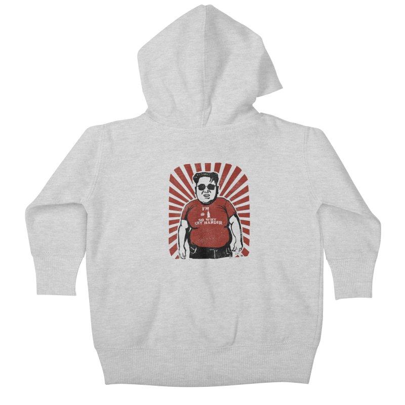 Fat Boy Kim Kids Baby Zip-Up Hoody by stephencase's Artist Shop