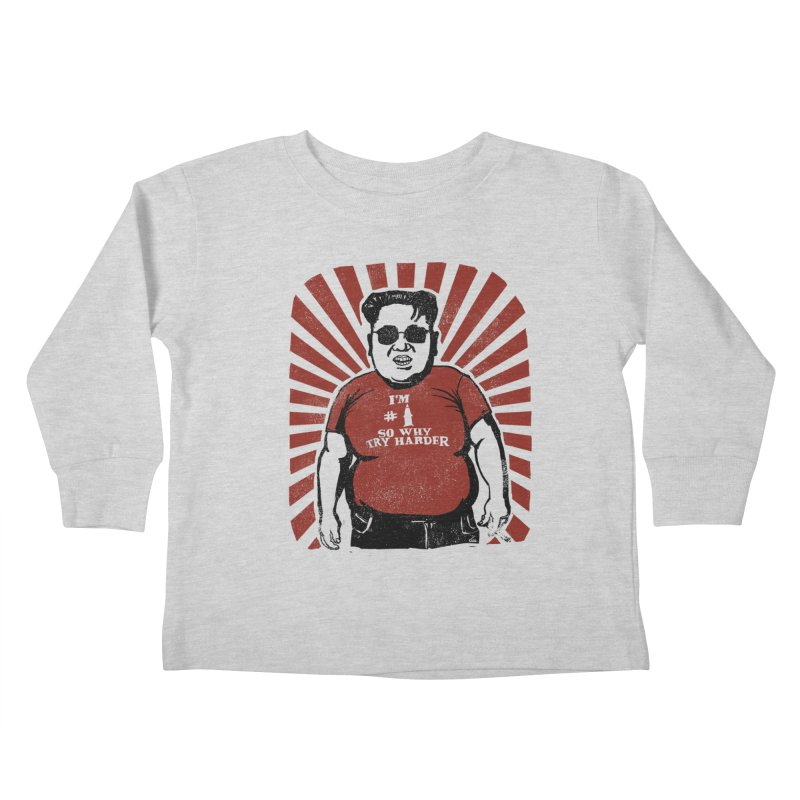 Fat Boy Kim Kids Toddler Longsleeve T-Shirt by stephencase's Artist Shop