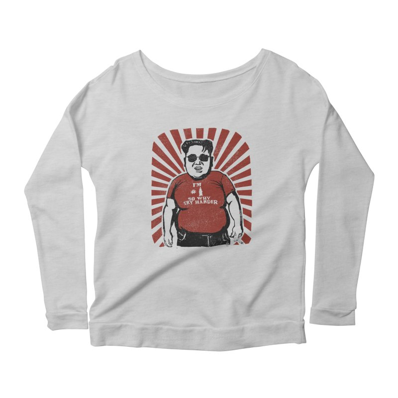 Fat Boy Kim Women's Longsleeve Scoopneck  by stephencase's Artist Shop