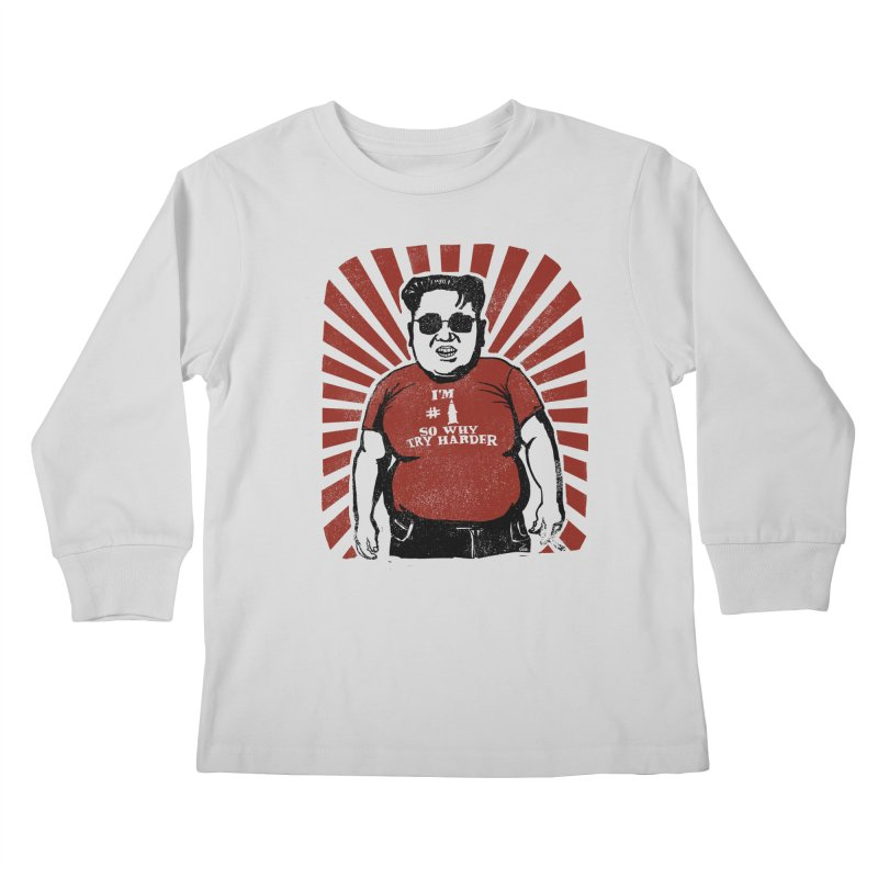 Fat Boy Kim Kids Longsleeve T-Shirt by stephencase's Artist Shop