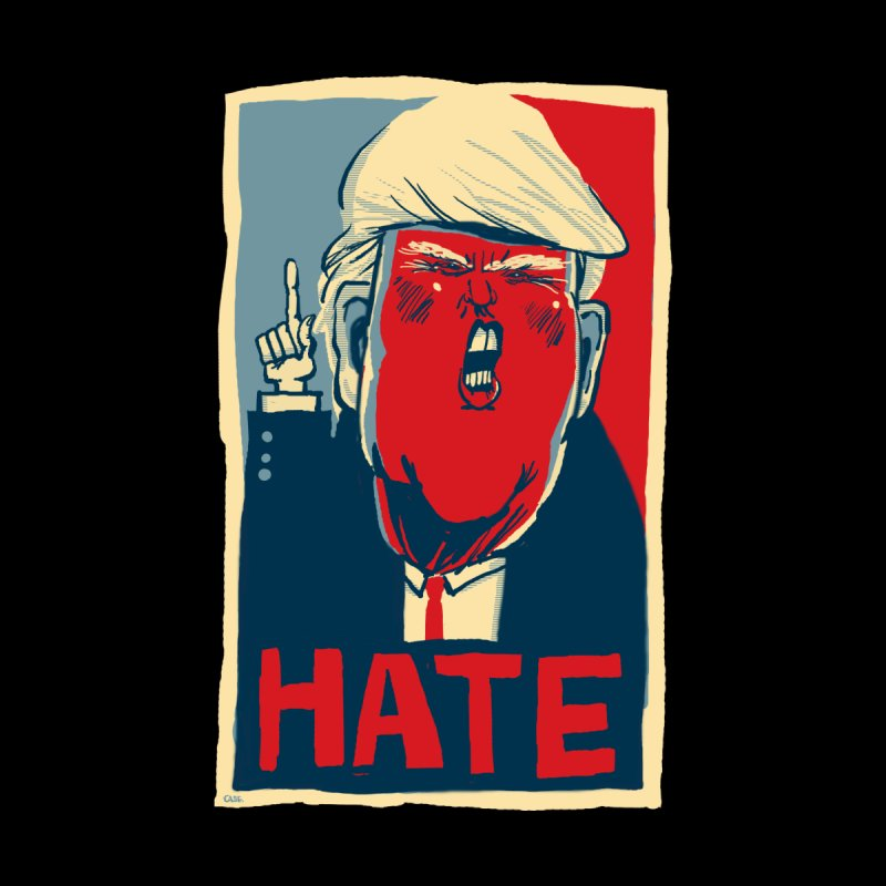 Donald Trump HATE None  by stephencase's Artist Shop