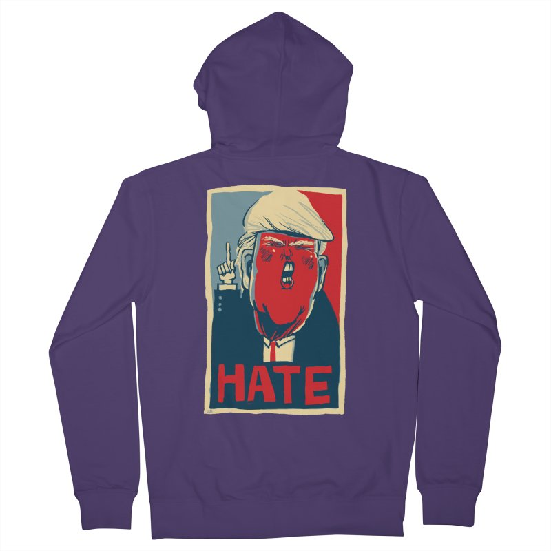 Donald Trump HATE Women's Zip-Up Hoody by stephencase's Artist Shop