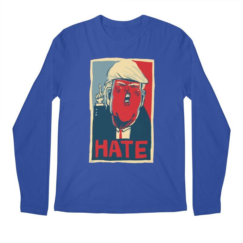 Donald Trump HATE Men's Longsleeve T-Shirt by stephencase's Artist Shop