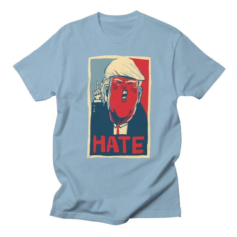 Donald Trump HATE Men's T-Shirt by stephencase's Artist Shop