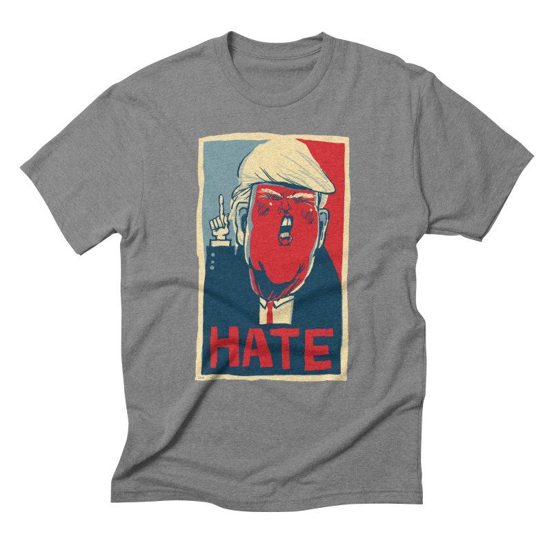Donald Trump HATE Men's Triblend T-shirt by stephencase's Artist Shop