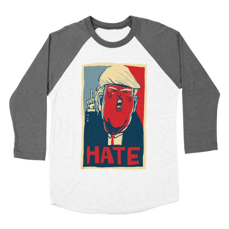 Donald Trump HATE Women's Baseball Triblend T-Shirt by stephencase's Artist Shop