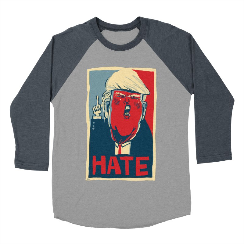 Donald Trump HATE Men's Baseball Triblend T-Shirt by stephencase's Artist Shop