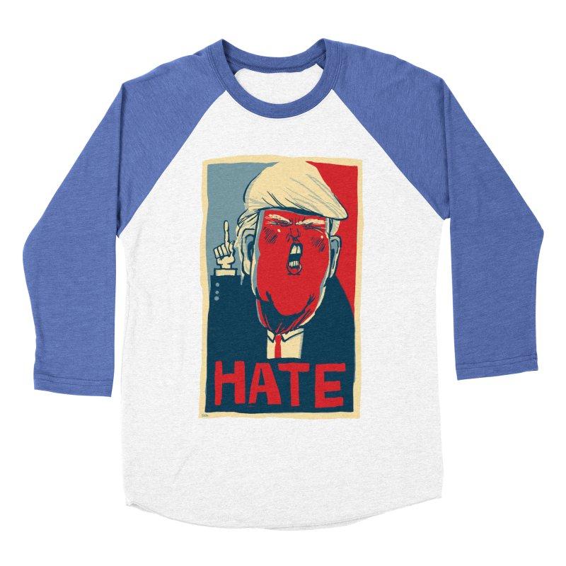 Donald Trump HATE Men's Baseball Triblend T-Shirt by stephencase's Artist Shop