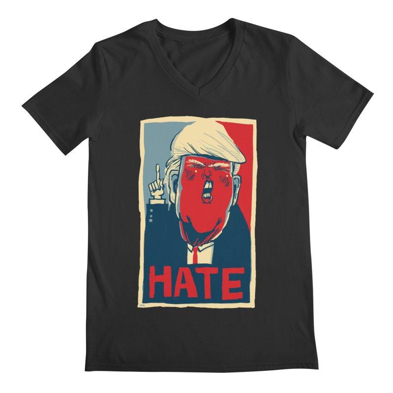 Donald Trump HATE Men's V-Neck by stephencase's Artist Shop