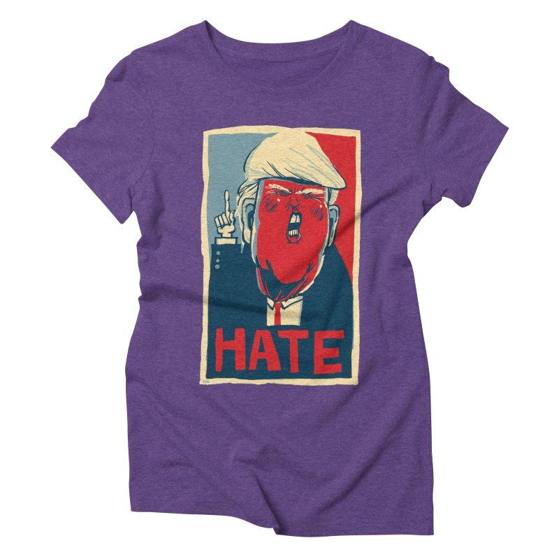 Donald Trump HATE Women's Triblend T-shirt by stephencase's Artist Shop