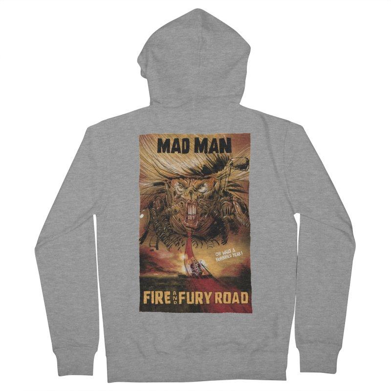 Fire & Fury Road Men's Zip-Up Hoody by stephencase's Artist Shop