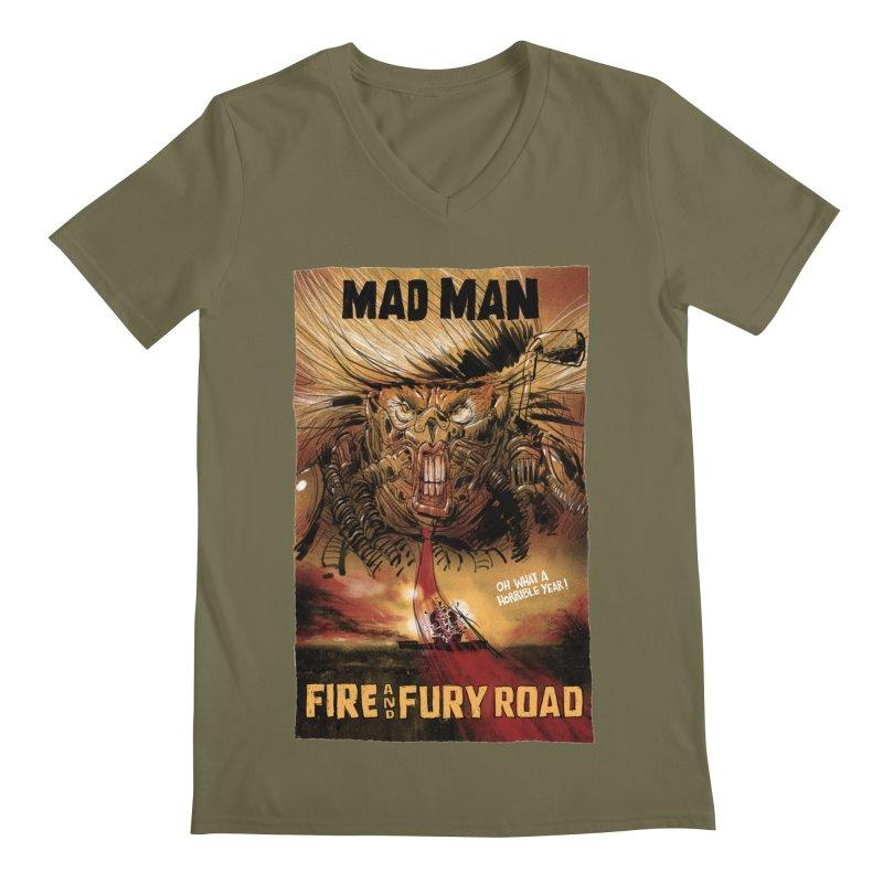Fire & Fury Road Men's V-Neck by stephencase's Artist Shop