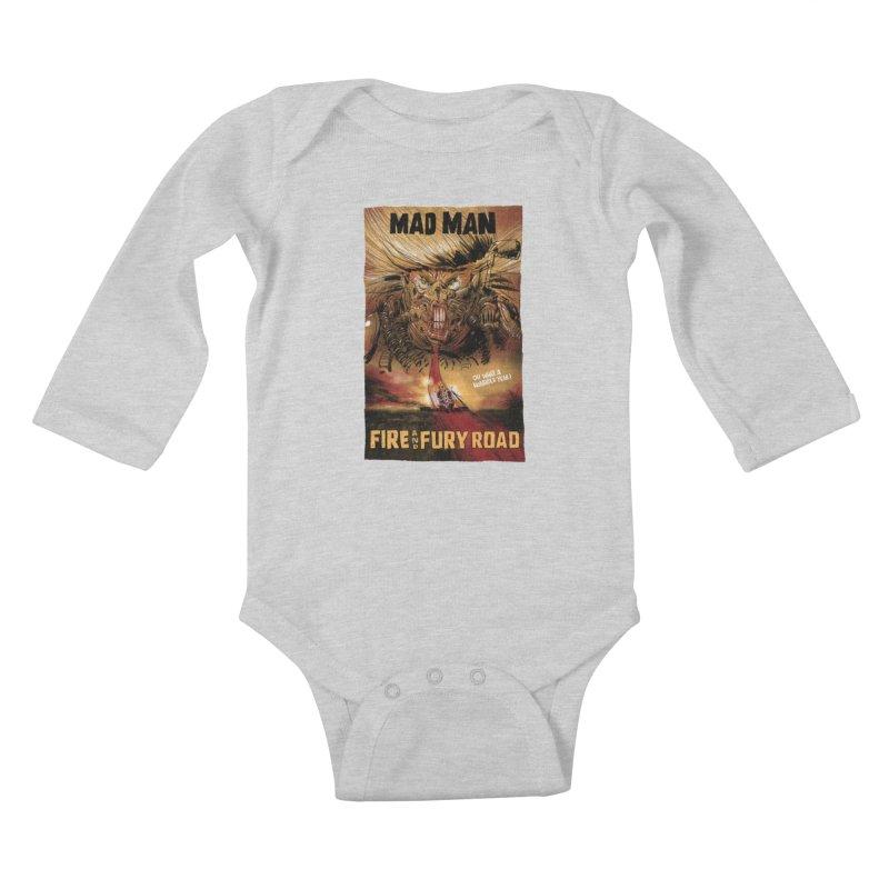 Fire & Fury Road Kids Baby Longsleeve Bodysuit by stephencase's Artist Shop