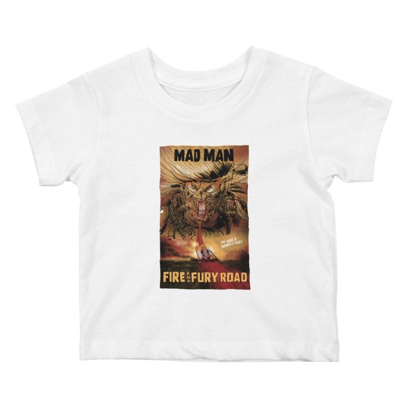 Fire & Fury Road Kids Baby T-Shirt by stephencase's Artist Shop