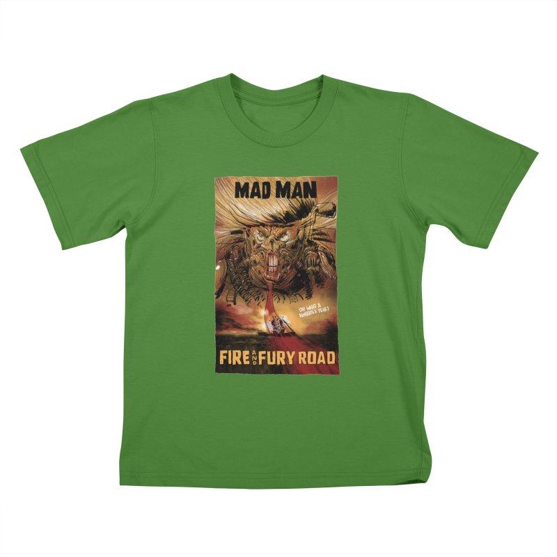 Fire & Fury Road Kids T-Shirt by stephencase's Artist Shop