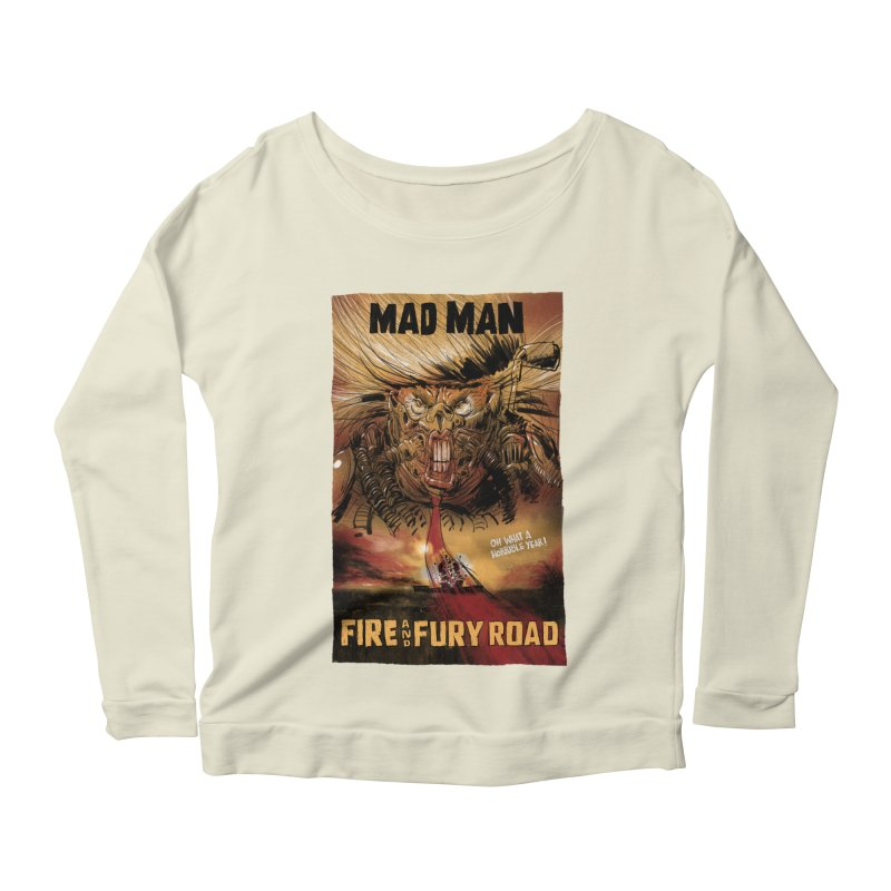 Fire & Fury Road Women's Longsleeve Scoopneck  by stephencase's Artist Shop