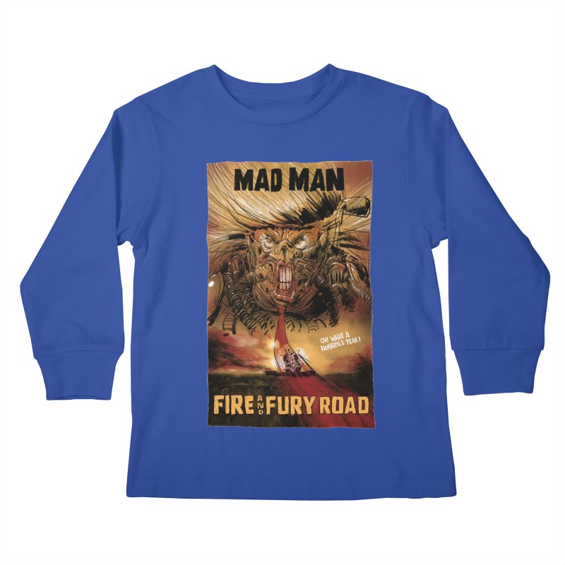 Fire & Fury Road Kids Longsleeve T-Shirt by stephencase's Artist Shop