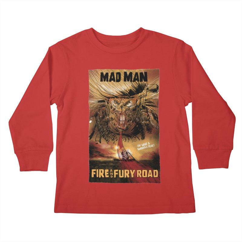 Fire & Fury Road Kids Longsleeve T-Shirt by stephencase's Artist Shop