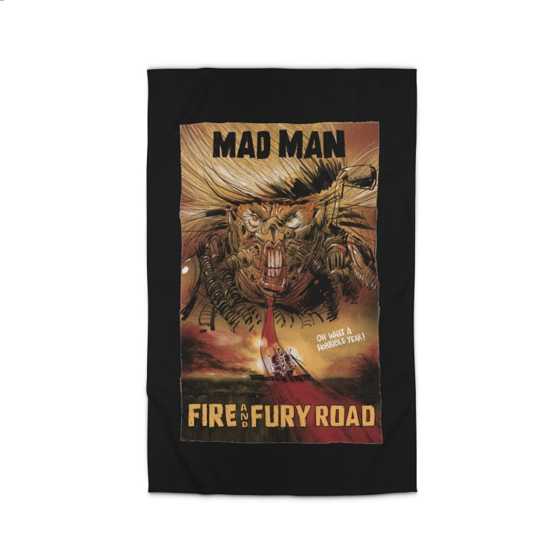 Fire & Fury Road Home Rug by stephencase's Artist Shop