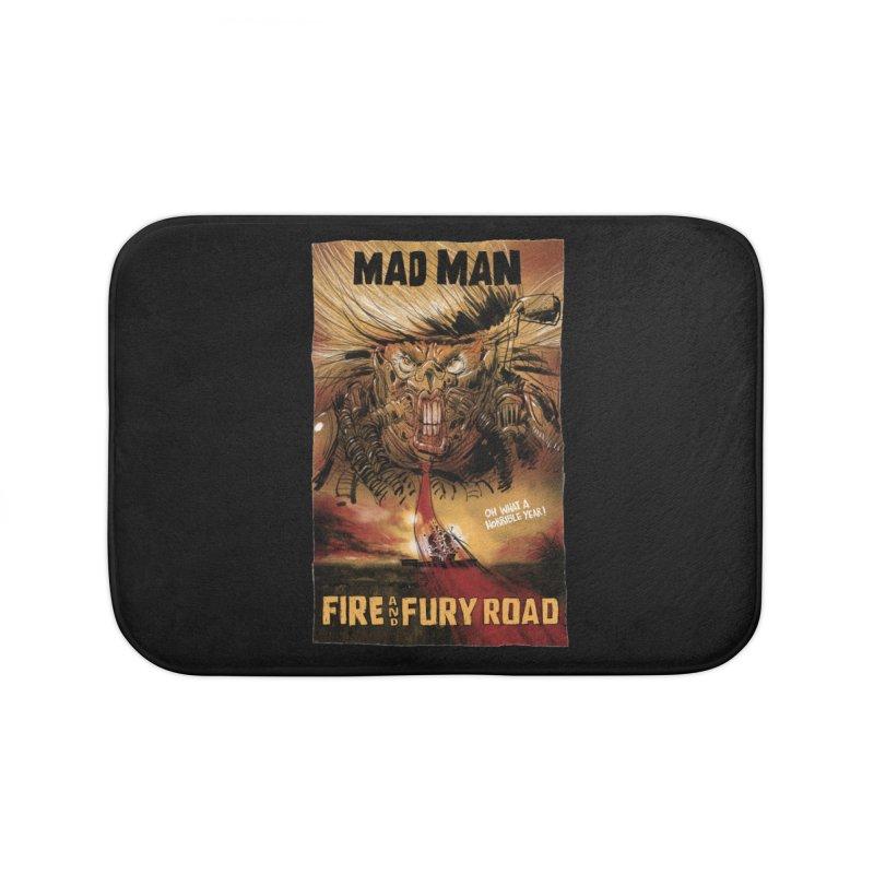Fire & Fury Road Home Bath Mat by stephencase's Artist Shop