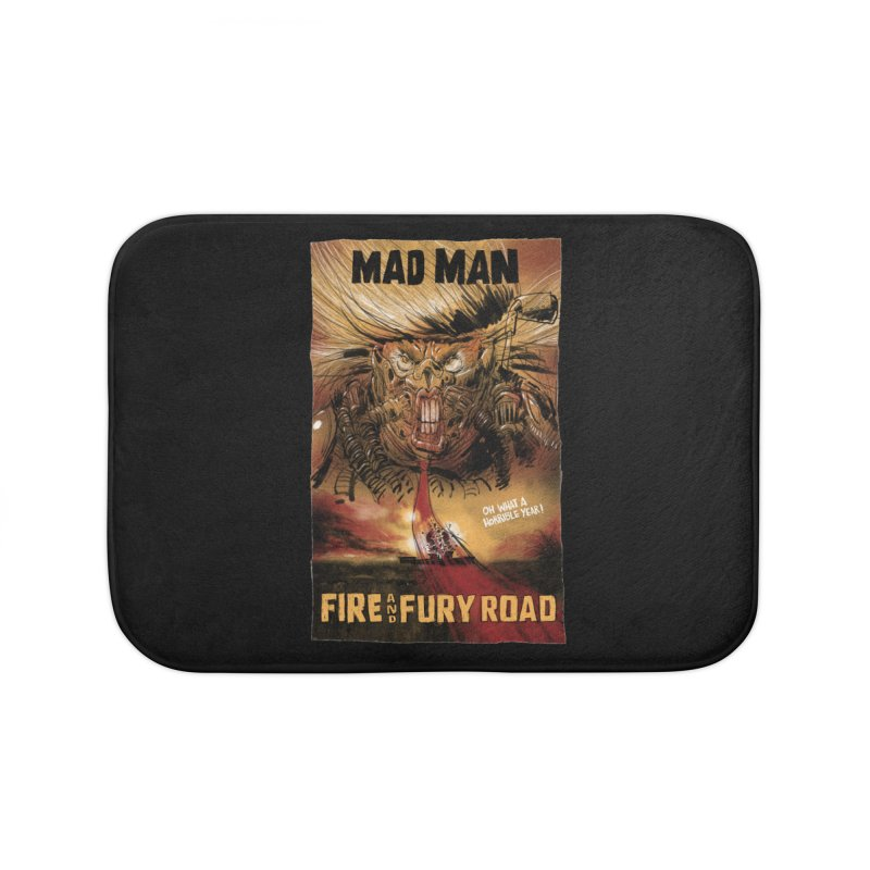 Fire & Fury Road Home Bath Mat by stephencase's Artist Shop