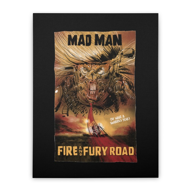 Fire & Fury Road Home Stretched Canvas by stephencase's Artist Shop