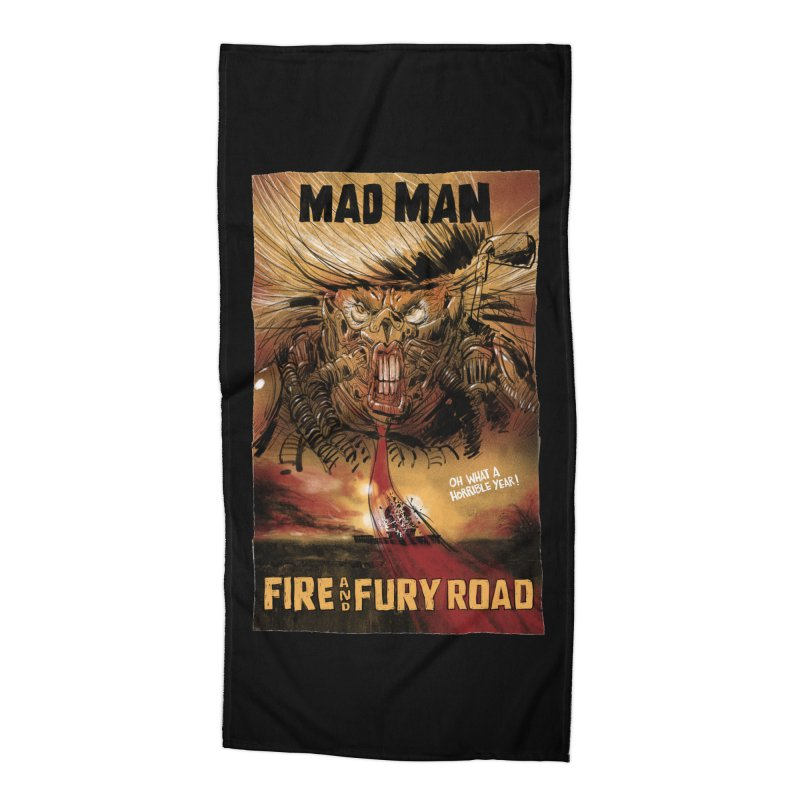 Fire & Fury Road Accessories Beach Towel by stephencase's Artist Shop
